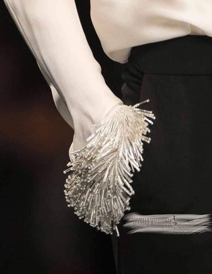 Переделка одежды. Удлиняем рукав с помощью бахромы из пряжи
