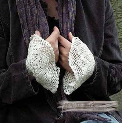 Переделка одежды. Удлиняем рукав с помощью вязанных крючком вставок из хлопковых нитей