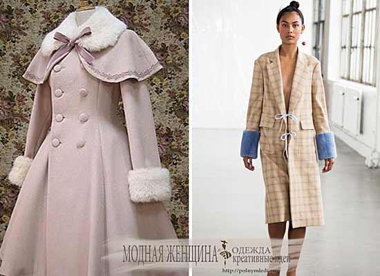 удлиняем рукава,меховой манжет, переделка одежды