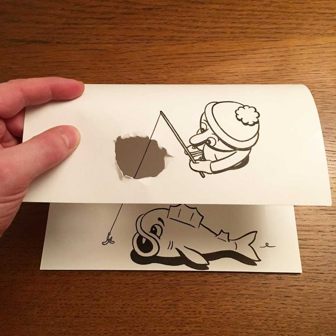 Funny situations created with simple sheets of paper (18 pics)