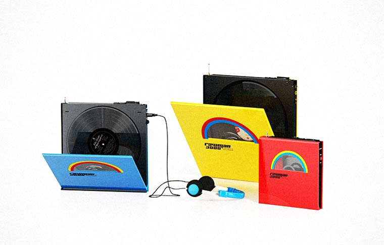 Rawman 3000 - Portable vinyl players with an awesome retro-futuristic design