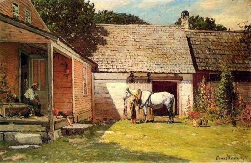 4 John Joseph Enneking (American artist, 1841 – 1916) A Summer Afternoon.jpg
