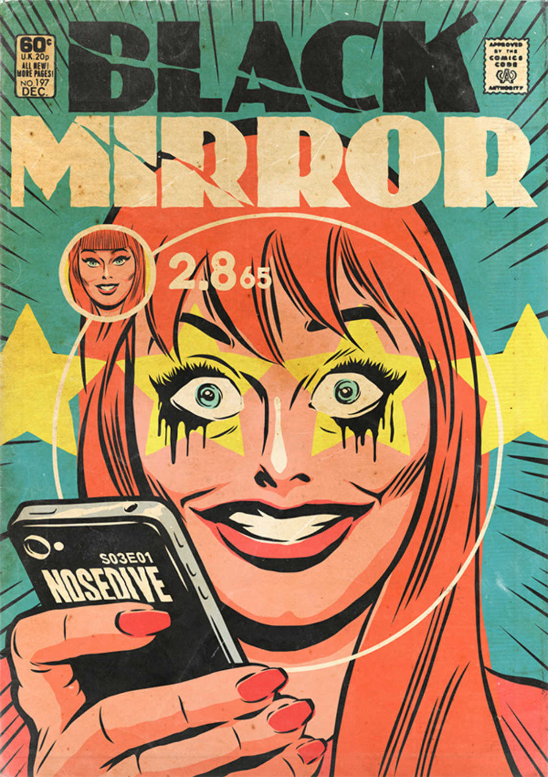 Black Mirror - Transformer les episodes en comics americains vintage