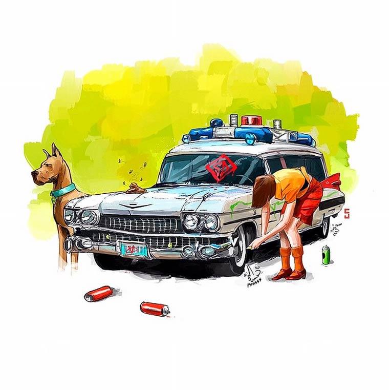 Famous Car Problems - Quand les voitures de la pop culture ont des problemes