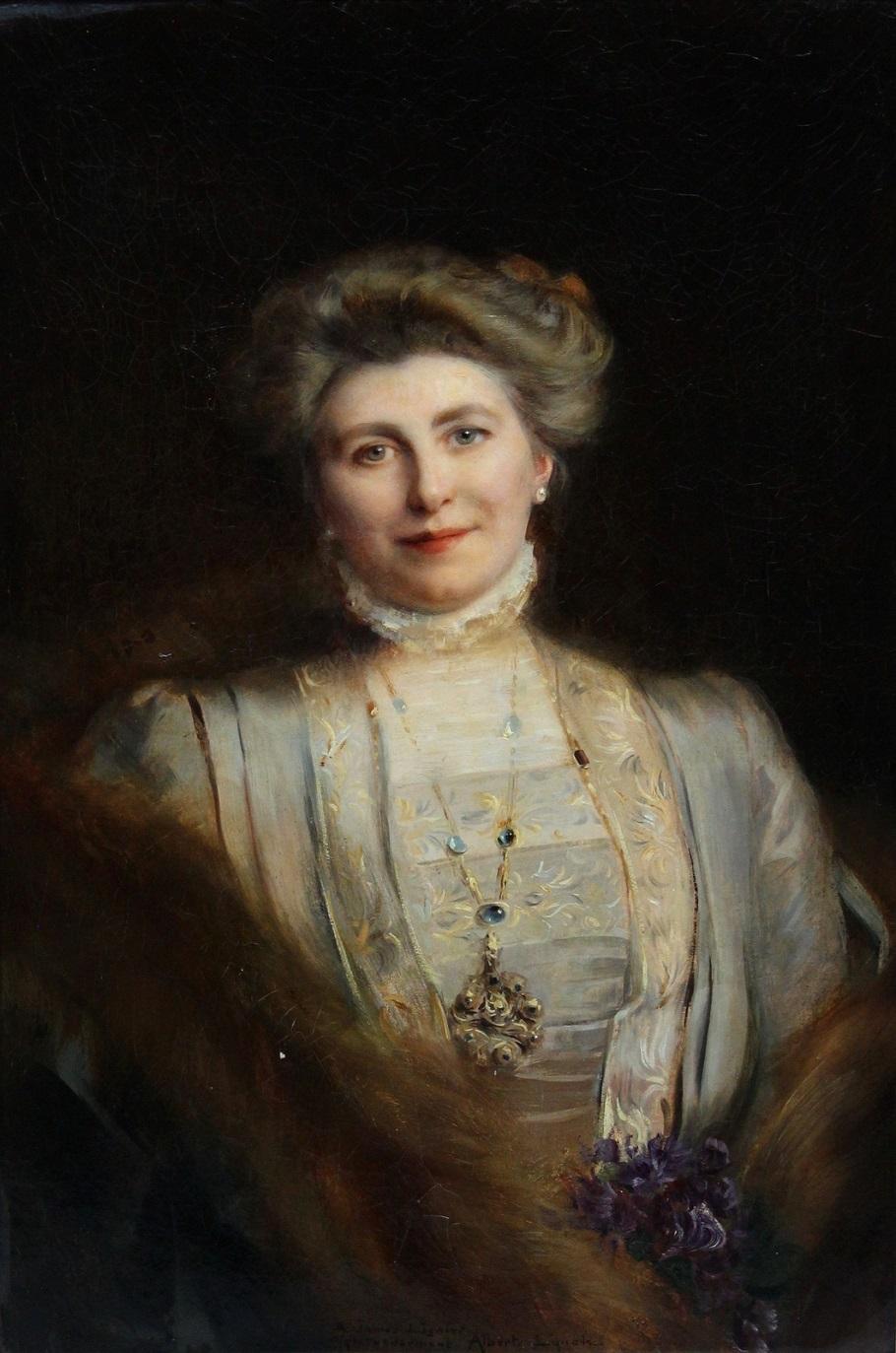 Портрет дамы (Portrait of an elegant) Частное собрание Альберт Линч.jpg