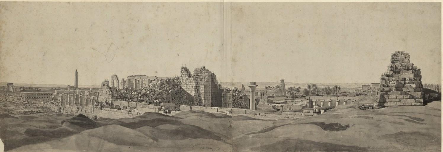 Карнак. Общий вид развалин к северо-западу