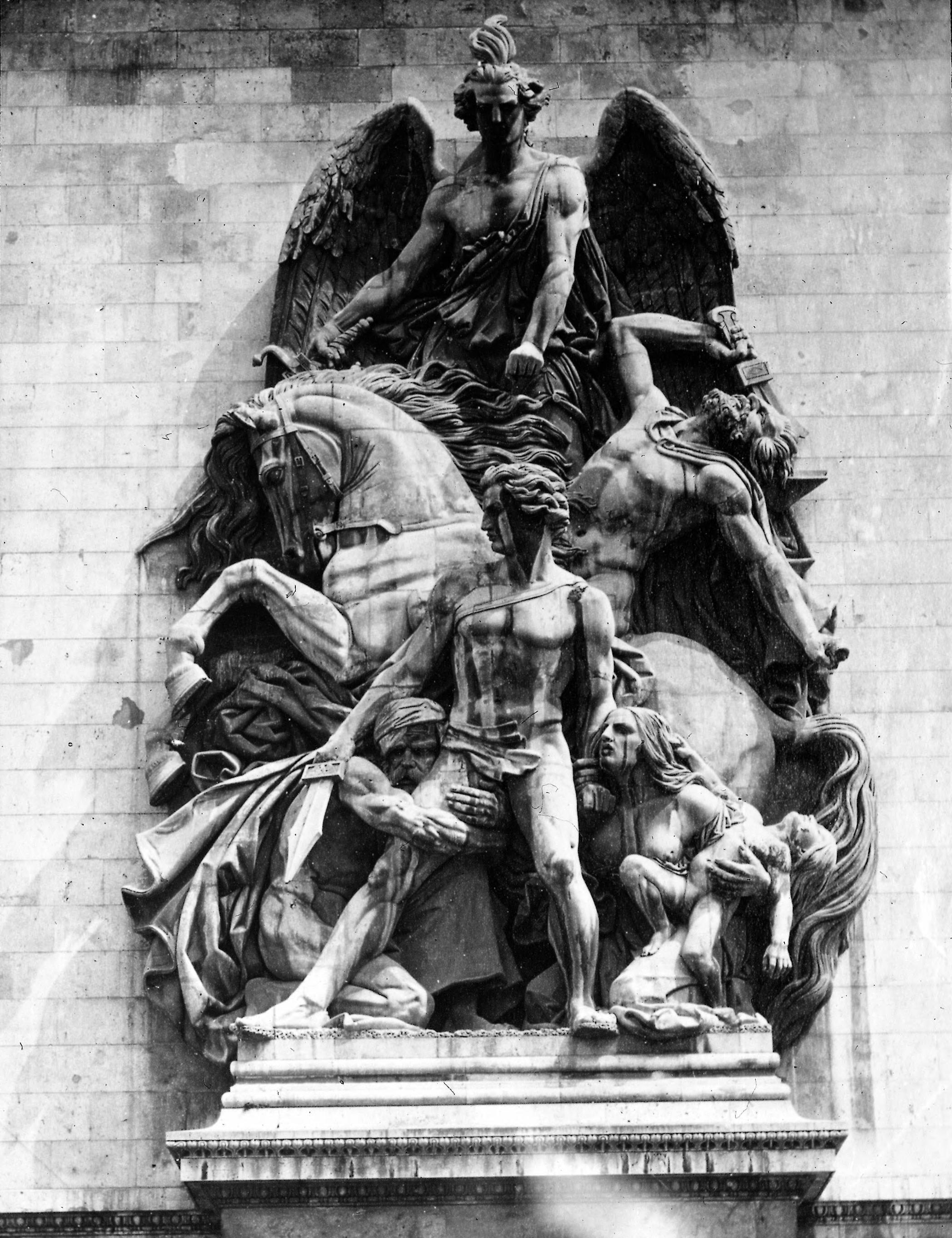 Площадь Этуаль. Триумфальная арка. Скульптура на Западном фасаде