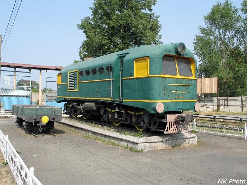 Тепловоз- и вагон-памятники