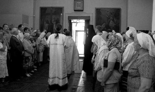 Праздник Преображения Господня. Спасо-Преображенский храм г.Солигалич. Встреча епископа.