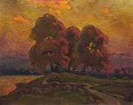 Деревья у реки холст, масло 58 x 46 см. 1979.