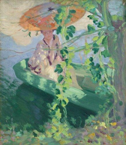 Лоутон Сайлас Паркер англ. Lawton S. Parker;  1868 — 1954 Along the River Epte