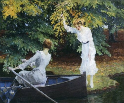 Американский художник Edward Alfred Cucuel (1875-1954)   У озера