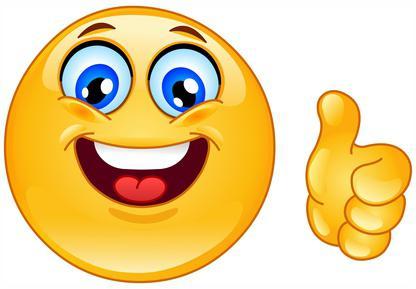 С Днем улыбки! Смайл улыбается и показывает, что все хорошо открытки фото рисунки картинки поздравления