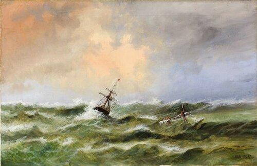 Л.Ф. Лагорио. Кораблекрушение. 1888. Частное собрание.jpg
