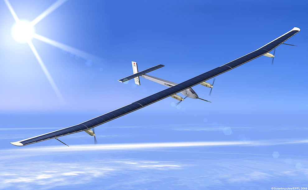 «Солнечный Импульс» был представлен публике 26 июня 2009 года швейцарским аэронавтом Бертраном