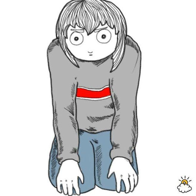 Обычно такую позу принимают взрослые, когда пытаются наладить контакт с ребенком. Человек, который с