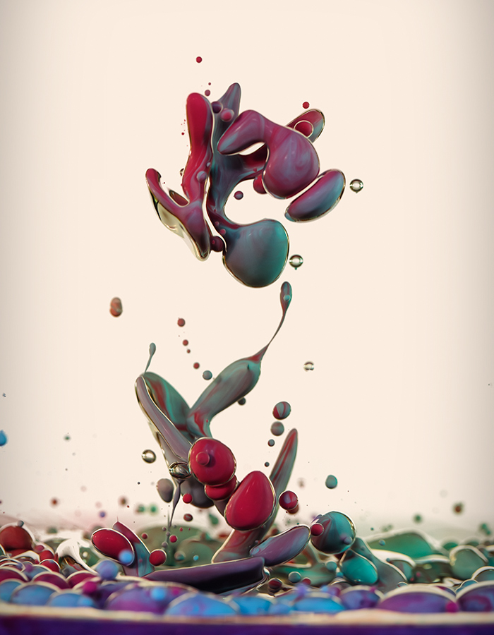 High Speed Photographs of Ink Mixing with Oil by Alberto Seveso (7 pics)