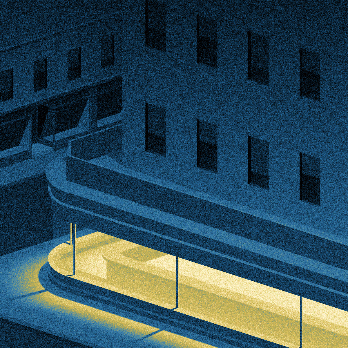 Digital Illustrations of City at Night (10 pics)