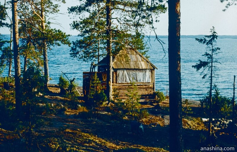 Избушка для туристов на Палий-острове, Онежское озеро