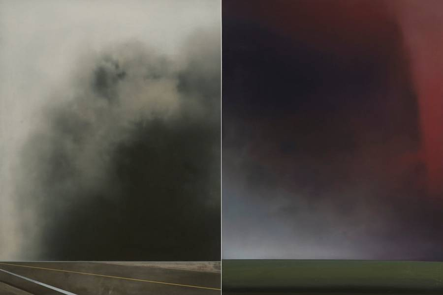 Hazy Lost Horizons Paintings by Christopher Saunders
