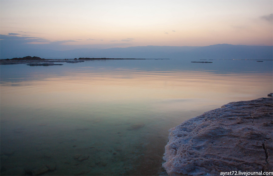 Мертвое море. На зорьке -