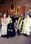 16.04.2000 г., клирики и алтарники Кафедрального собора Христа Спасителя.
