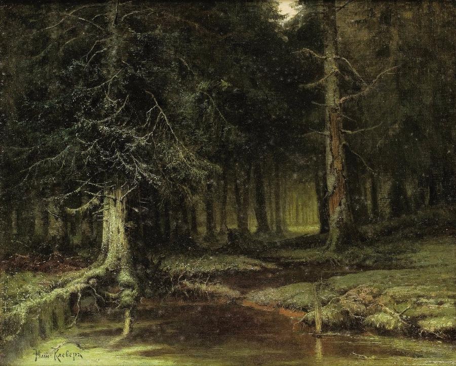 Стих лес над рекой