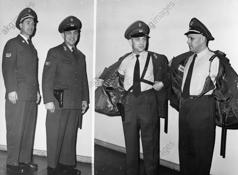 Neue Uniform f.Westberliner Polizei,1961 - -