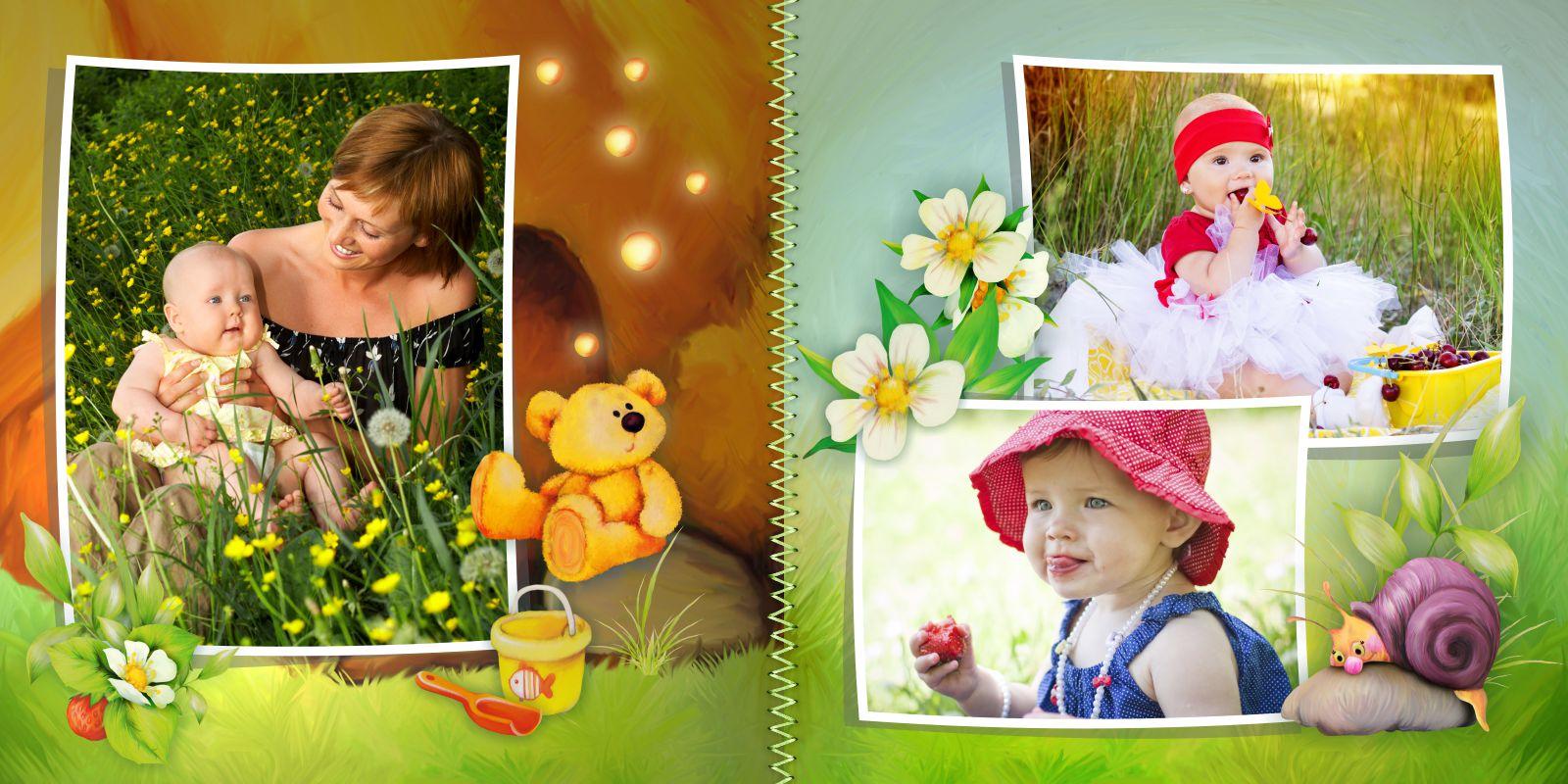 детская фотокнига пример