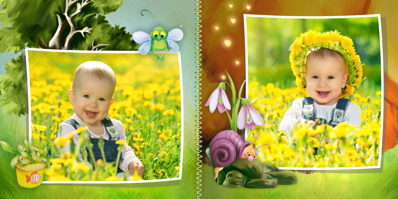 летняя фотокнига для детей