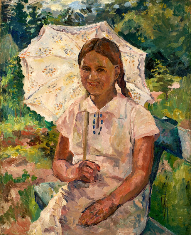 Девочка с зонтиком Частное собрание