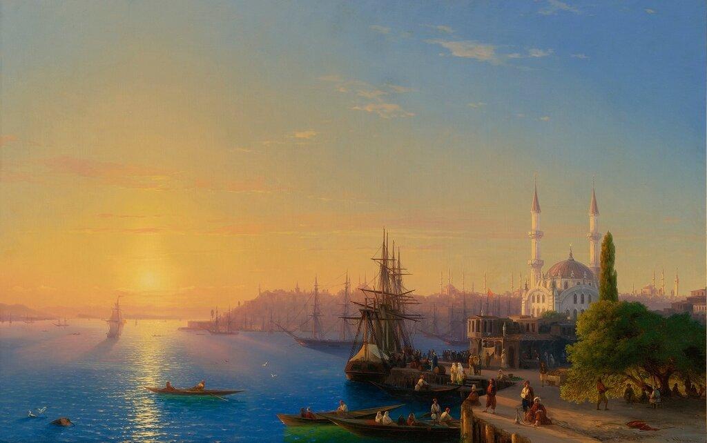 Вид Константинополя и Босфора, 1856 год