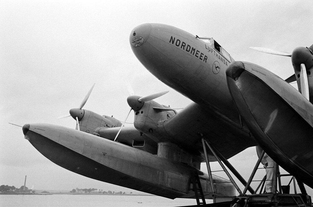 Blohm & Voss Ha 139 Nordmeer en 1938 sur le navire Schwabenland - Alfred Eisenstaedt - LIFE