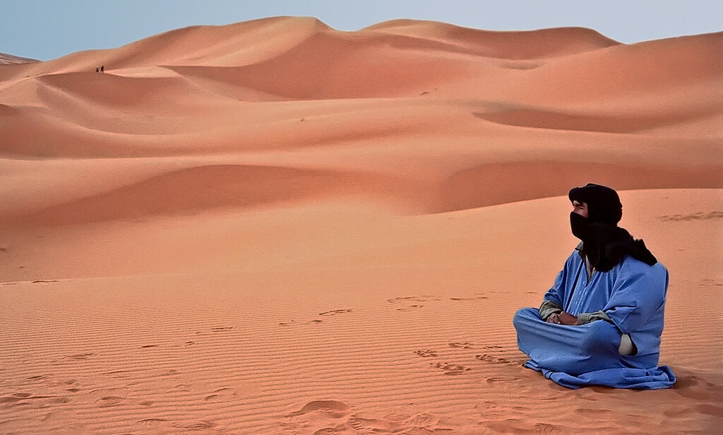 Бербер в Сахаре.