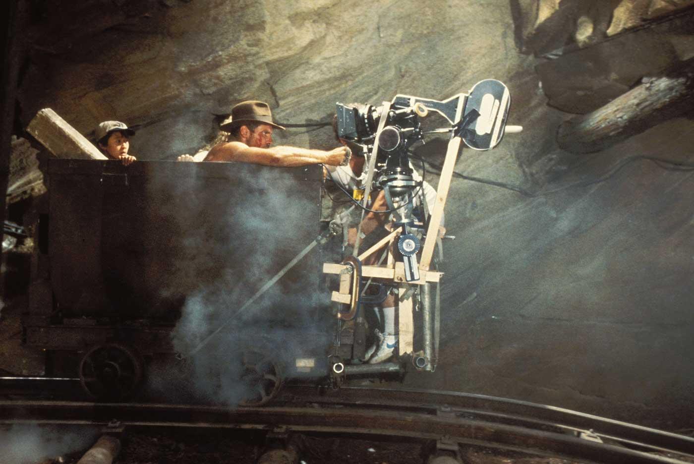 Харрисон Форд на съемках картины «Индиана Джонс и храм судьбы».