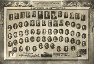 1-й выпуск инженеров технологов по специальности Лесоинженерное дело 1943–1948 года