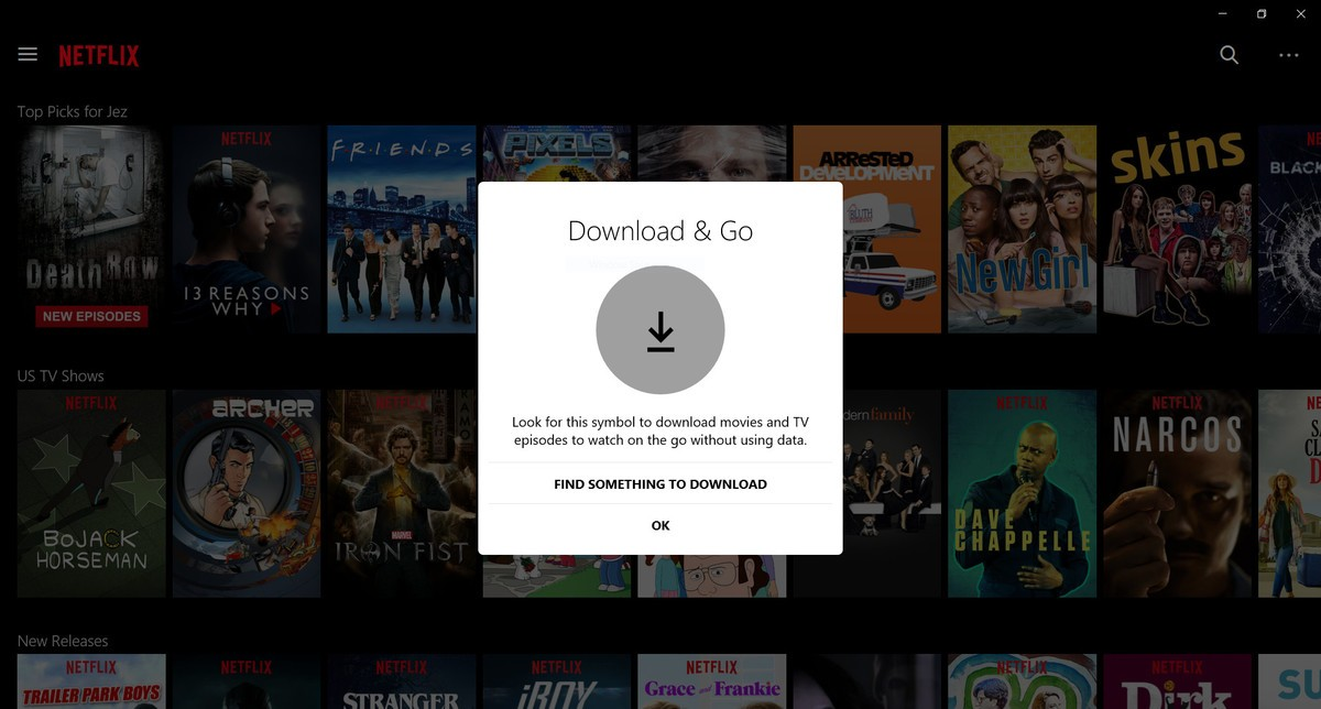 Компания Netflix запускает функцию offline-просмотра для Windows 10