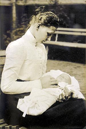 Екатерина Арская с дочерью. Начало 1900-х годов.