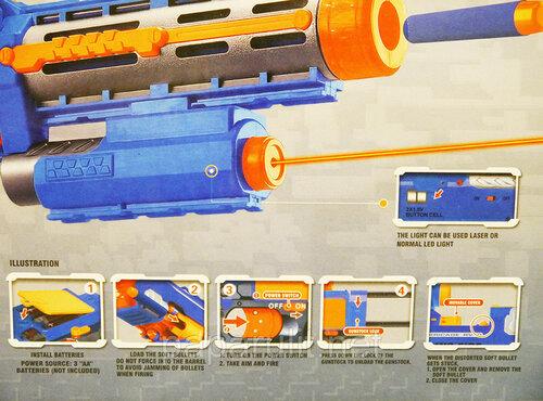 Игрушечный автомат Blaze Storm с мягкими пулями и лазерным прицелом