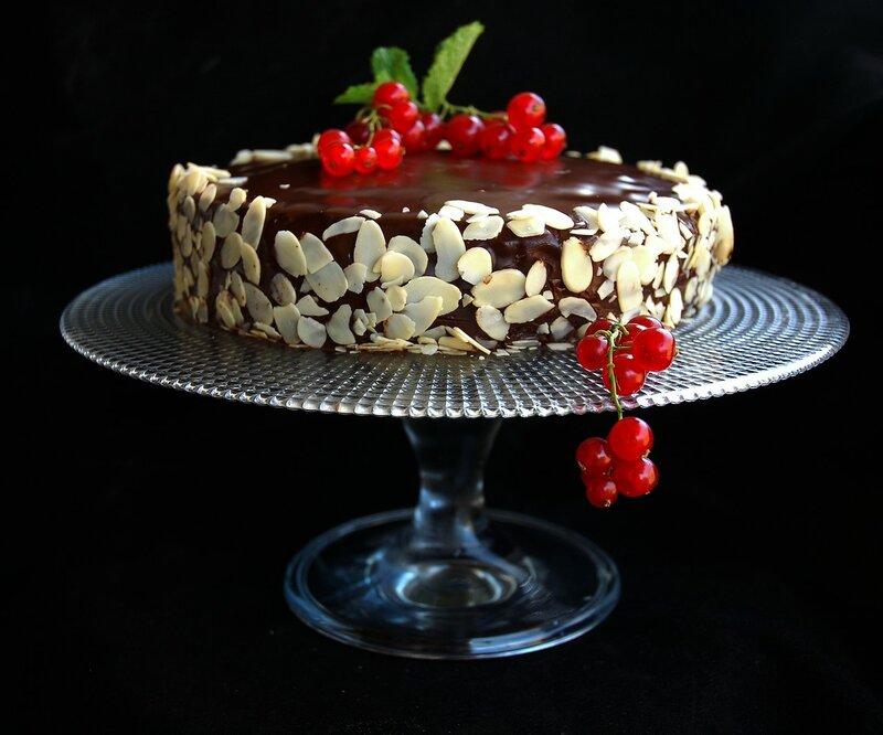 Торт с кремом из баклажанов