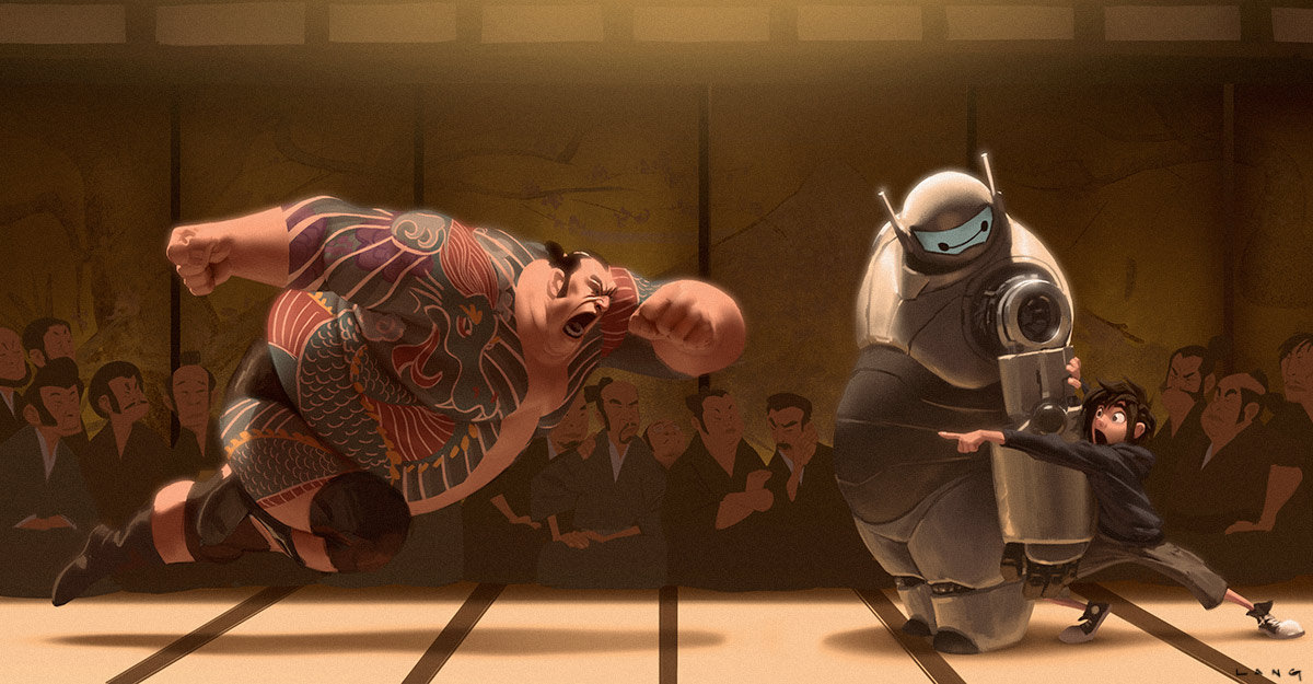 Big Hero 6 Concept Art by Ryan Lang