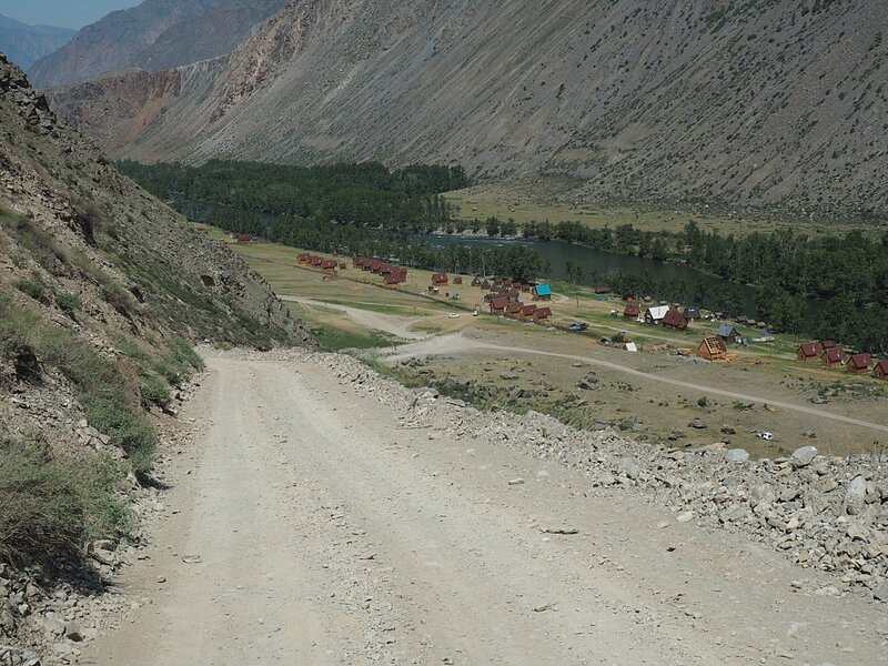 Дорога на перевале Кату-Ярык (Road on the pass Katu-Yaryk)