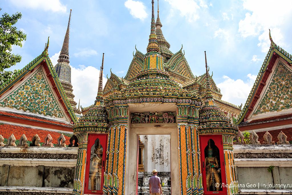 храм лежащего будды бангкок фото
