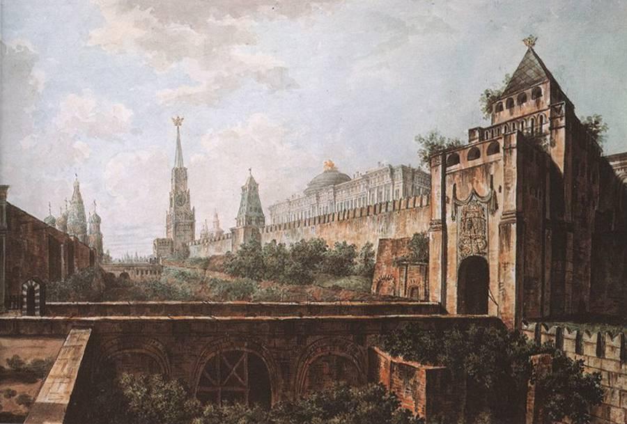 452601 Никольские ворота Кремля и Алевизов ров.jpg