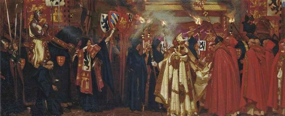 Эдвард I и прохождение королевы Элеоноры.Jpeg