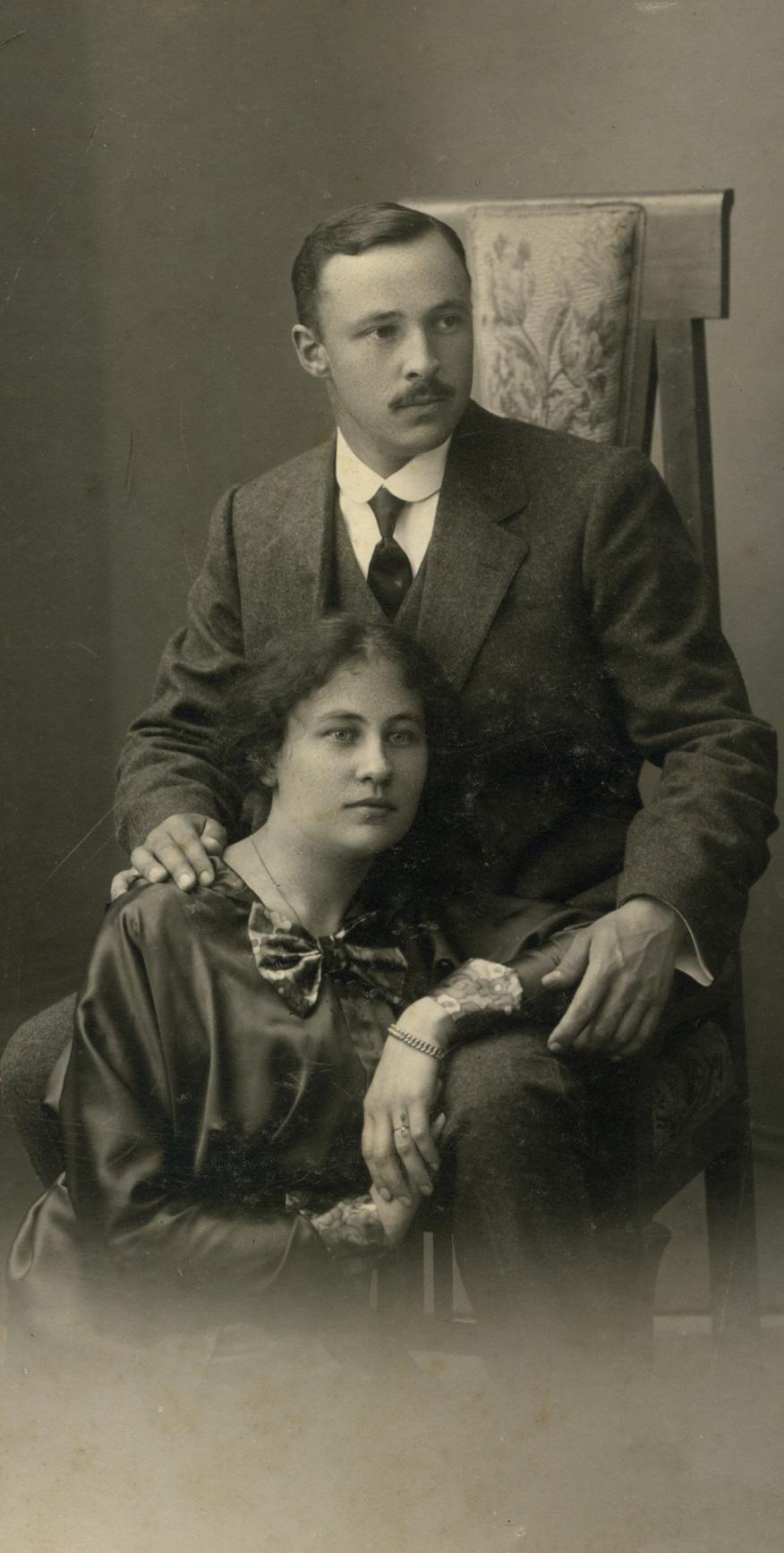 Портрет супружеской пары Евгений Петрович Андреев и Анна. 1912-1915
