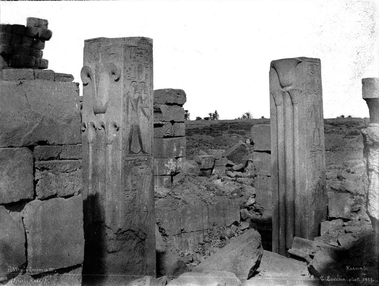 Карнак. Столпы Тутмоса III