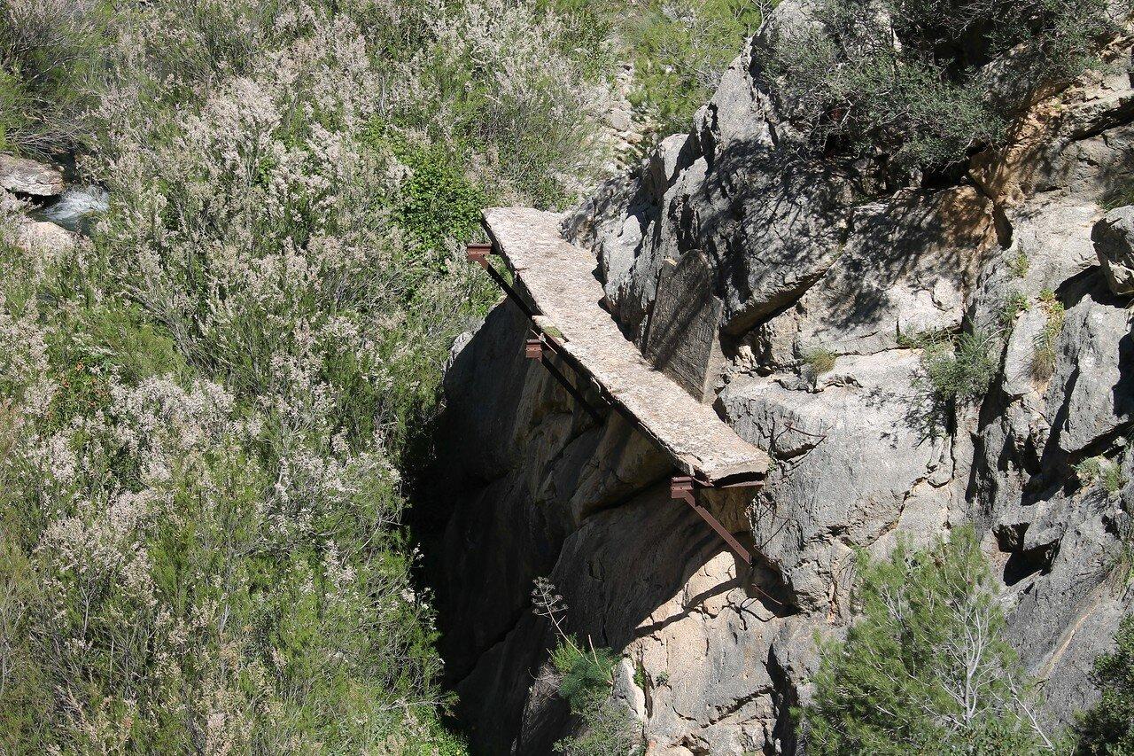 El Chorro. Caminito del Rey. Kambatas dam (Presa de Cambutas)