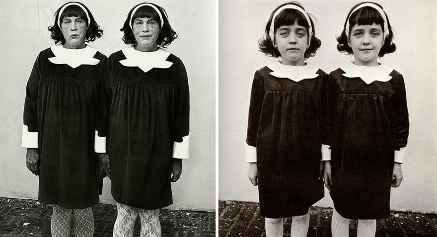 6. Сандро Миллер, Диана Арбус / Идентичные близнецы, Розелль, Нью-Джерси (1967), 2014