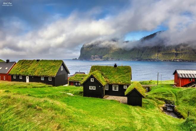 Сказочная Скандинавия! 30 домиков с живой крышей (31 фото)
